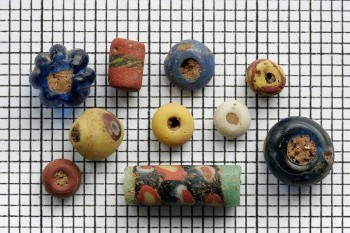 A photo of some of the Anglo-Saxon beads stolen