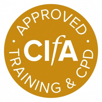 CIfA approved training and CPD logo